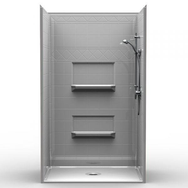 Multi-Piece Barrier Free 48″ x 34″ x 82″ Shower | Beveled Threshold