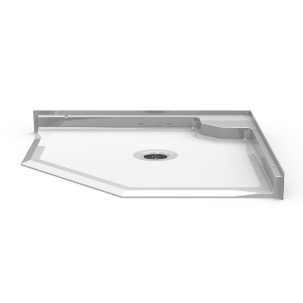 Barrier Free 42″ x 42″ Shower Pan | Beveled Threshold - On The Mend Medical Supplies & Equipment