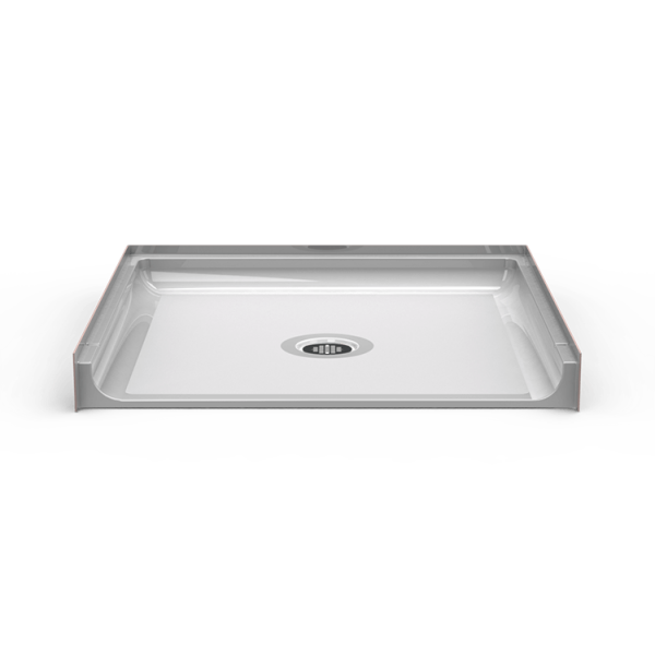 Barrier Free 38″ x 38″ Shower Pan | Beveled Threshold - On The Mend Medical Supplies & Equipment