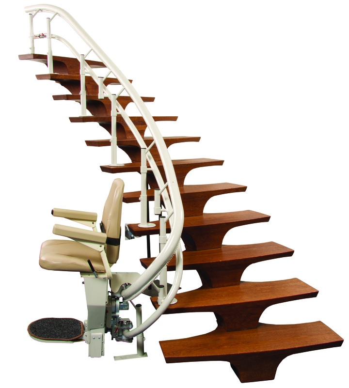 HARMAR CSL500 Helix Curved Stair Lift - On The Mend Medical Supplies & Equipment