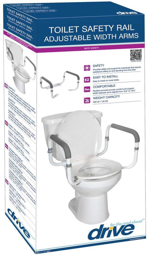 Drive Medical Toilet Safety Rail - On The Mend Medical Supplies & Equipment